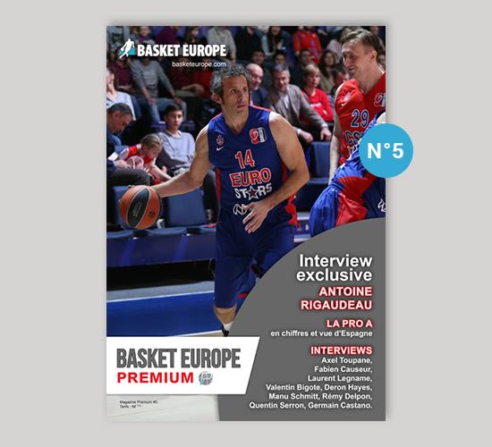 Magazine Basket Europe n°5, Interview exclusive d'Antoine Rigaudeau