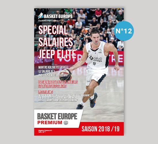 Salaire Jeep Elite - Magazine Basket Europe n°12